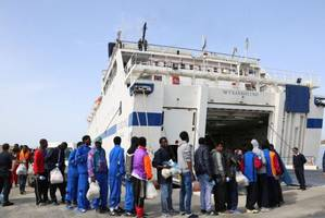 Severely burned Libyan migrants rescued at sea
